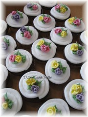 cupcakes with ribbon  roses | by Diane Burke - moving to ipernity