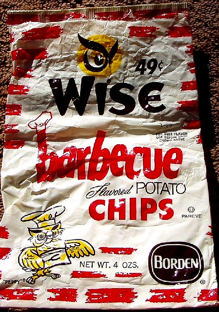 1970s Wise Barbecue Chips Bag Craigslist Doesnt Often