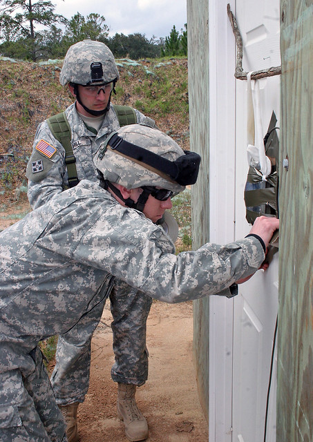 ... ADLC students do a final check of the door breaching charge | by Georgia National Guard & ADLC students do a final check of the door breaching chargu2026 | Flickr