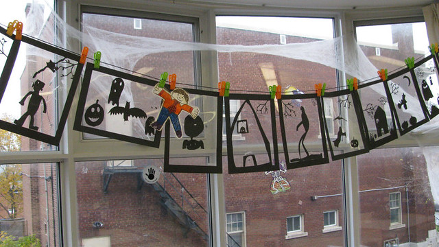 halloween decorations churchill school by barbcollishaw