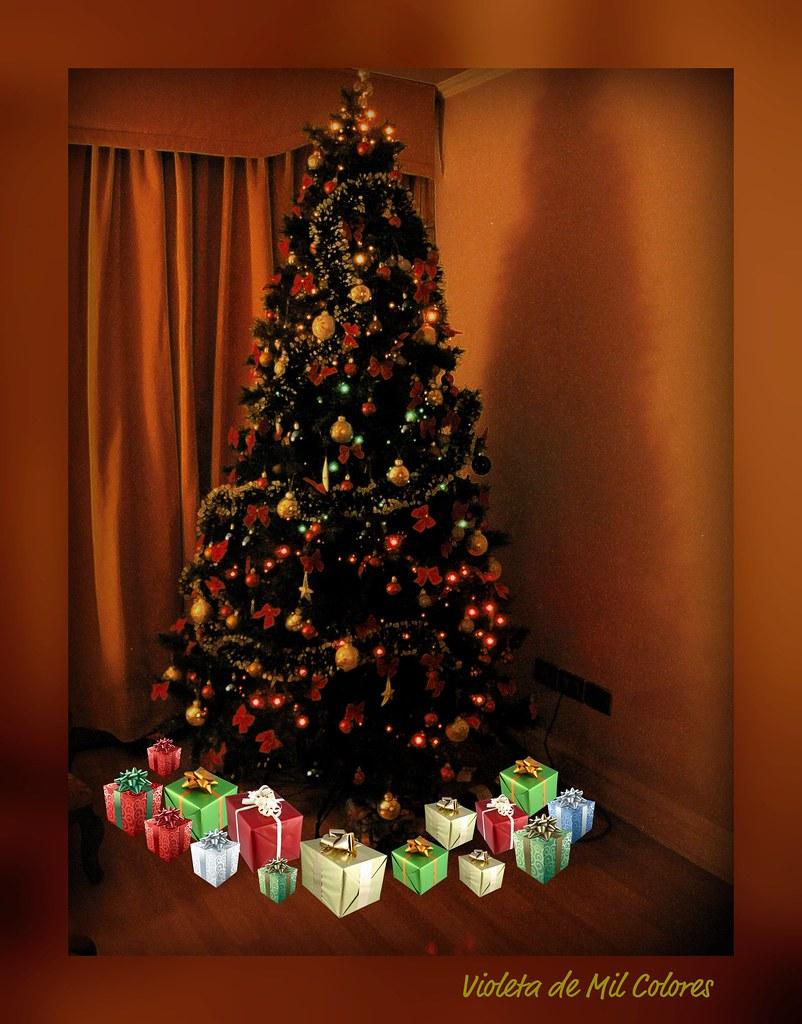 Feliz navidad para todos en el mundo mi rbol de los - Arbol de navidad de pared ...