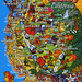 postcard - San Joaquin Valley map