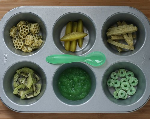 Green Theme muffin tin meal | by anotherlunch.com