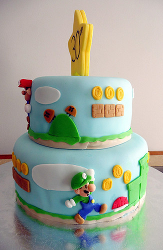 Super Mario Bros Birthday Cakes Pan