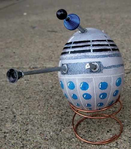 Dalek egg frontal view | by PugnoM