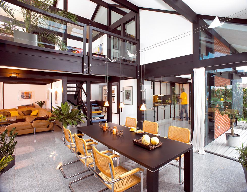 Modernes fachwerkhaus 011 davinci kundenhaus for Modernes fachwerkhaus