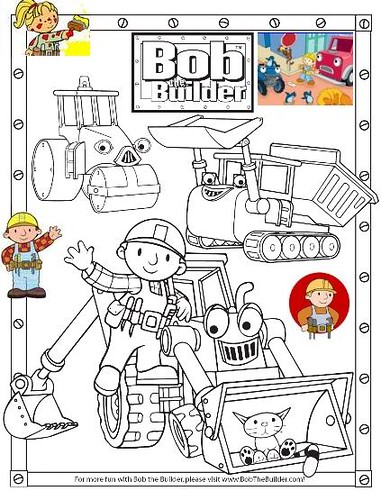 Bob The Builder Coloring Pages Sweetinterior Flickr