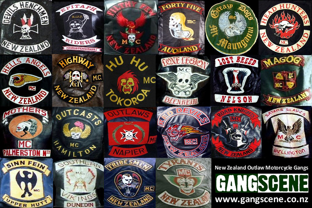 Biker Vest Patches >> NZ motorbike gang patches | From www.gangscene.co.nz | Flickr