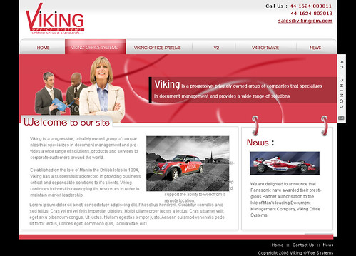 Viking creative template design clean style template for Yahoo ecommerce templates