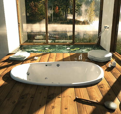 Unique bathroom ideas ambrosia bathtub 2 natural for Cool cheap bathroom ideas