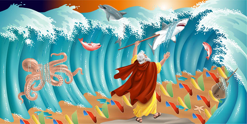 Moses parts the waters | by houbi