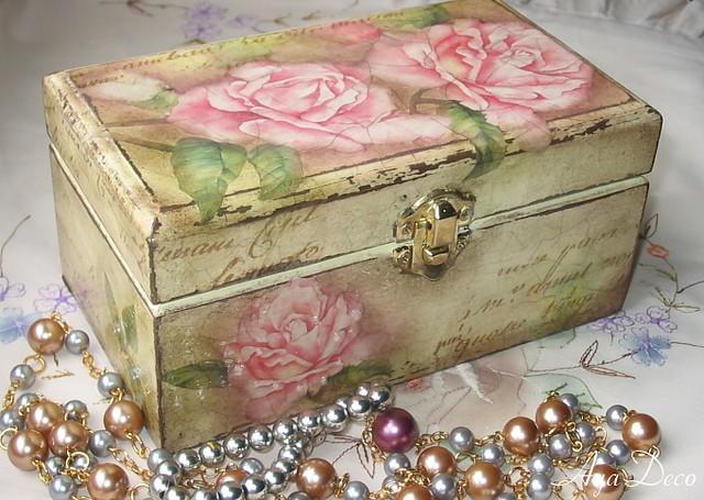 Decoupage Box - roses | Decoupage Box - roses | Flickr