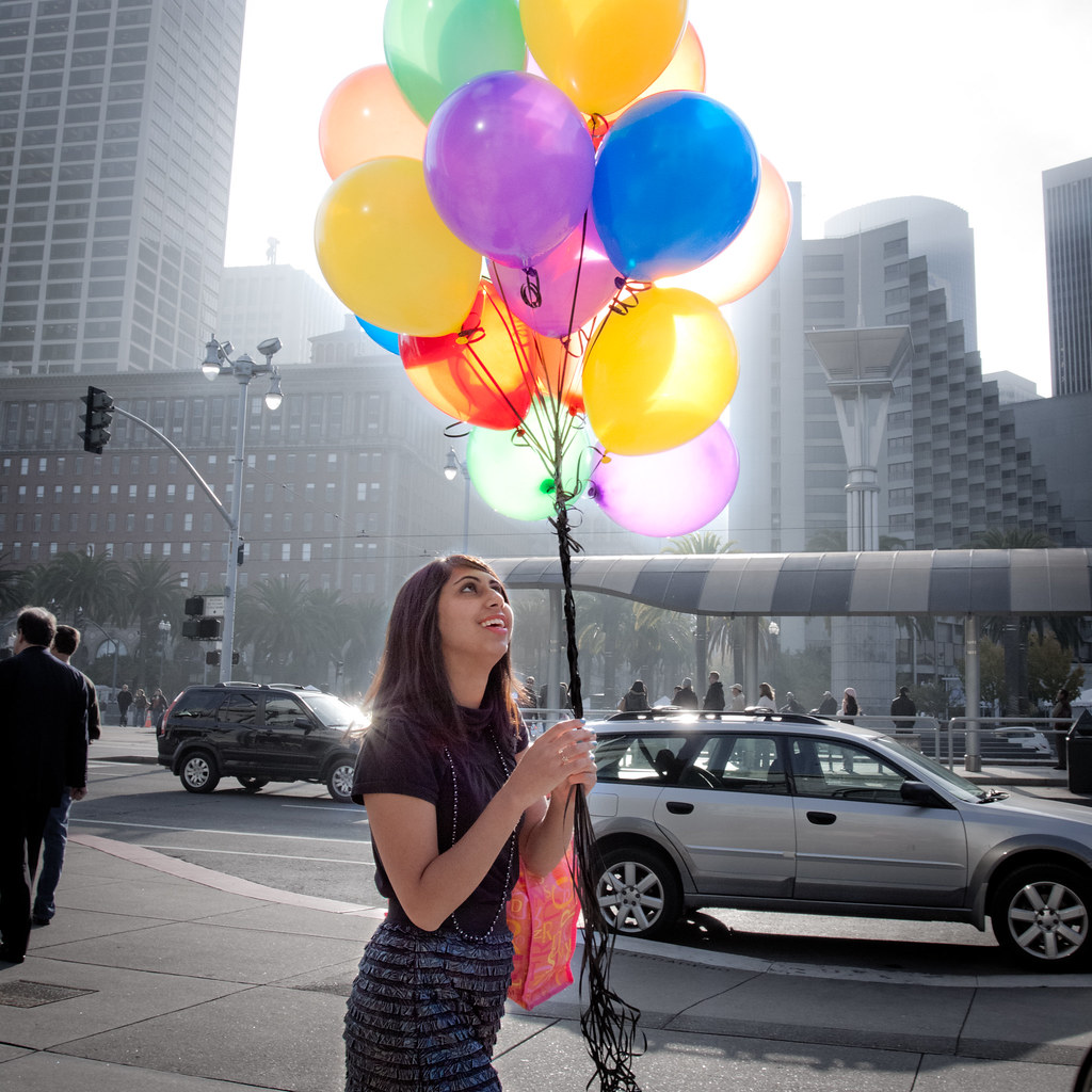 Balloons at the SF Ferry Building | I posted an ad in ...