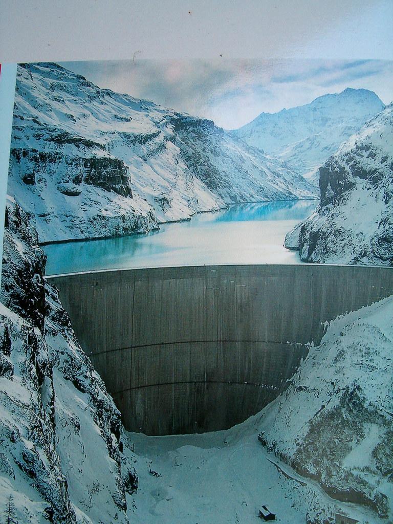 Staumauer Stausee Lac Mauvoisin im Kanton Wallis , Schweiz ...