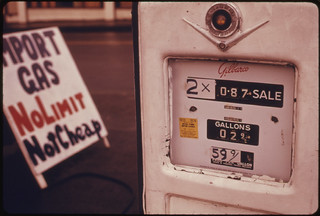 Imported Gasoline Was Sold at This Service Station, During the Fuel Crisis in the Fall and Winter of 1973-74...02/1974 | by The U.S. National Archives