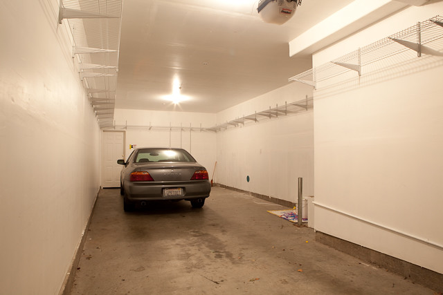 2 car tandem garage with plenty of storage space