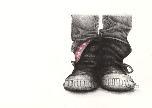booties | by andrea joseph's illustrations