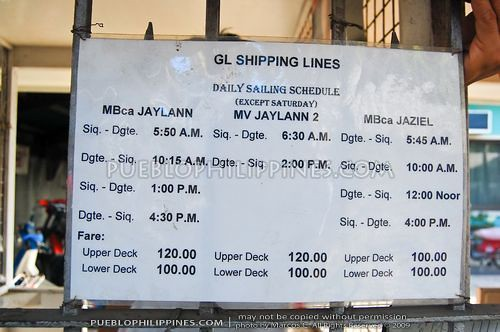 Ic Free Shipping >> Dumaguete to Siquijor GL Shipping Schedule | Pueblo Philippi… | Marcos Detourist | Flickr