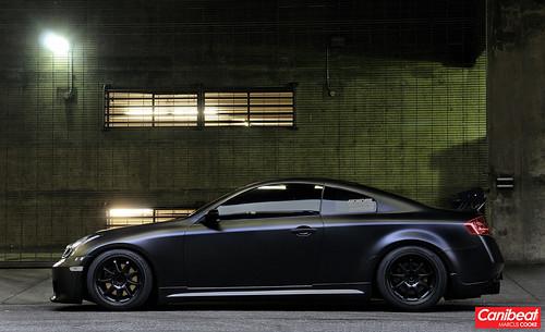 G35 Coupe Wallpaper >> Zack's Matte Black Infiniti G35 Coupe | DTLA shoot I did for… | Flickr