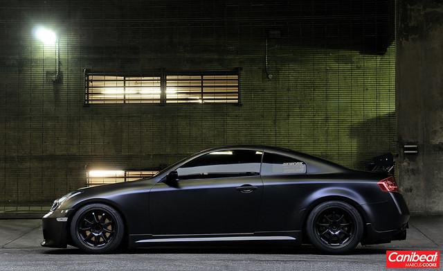 Zacks Matte Black Infiniti G35 Coupe  DTLA shoot I did for  Flickr