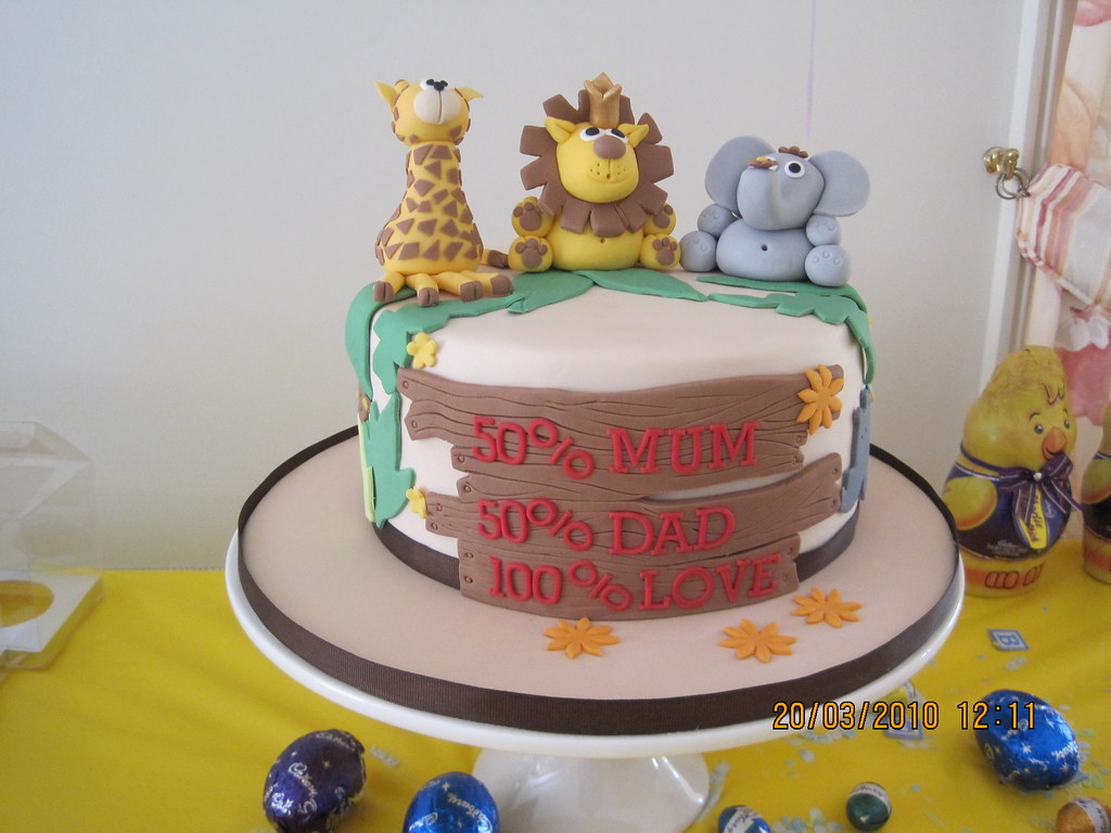 ... CakeCreationsByHuma Baby Shower Safari Cake | By CakeCreationsByHuma