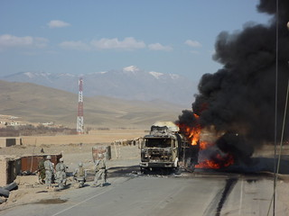 Afghan Convoy Attacked | by DVIDSHUB