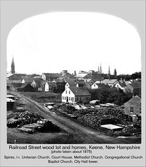 Railroad Street Woodlot and Homes, Keene New Hampshire | by Keene and Cheshire County (NH) Historical Photos