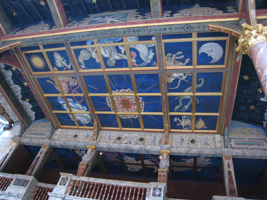 globe stage ceiling mural at shakespeare 39 s globe theatre