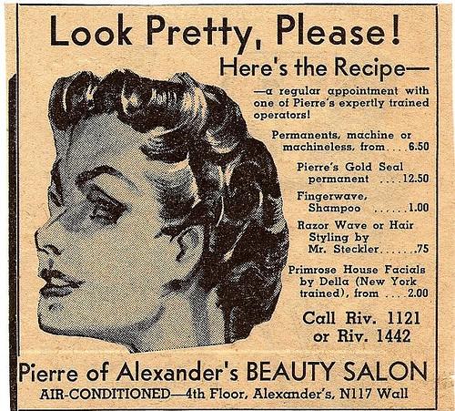 Alexander 39 s beauty salon 1941 meet you there for hair for 1950 s beauty salon