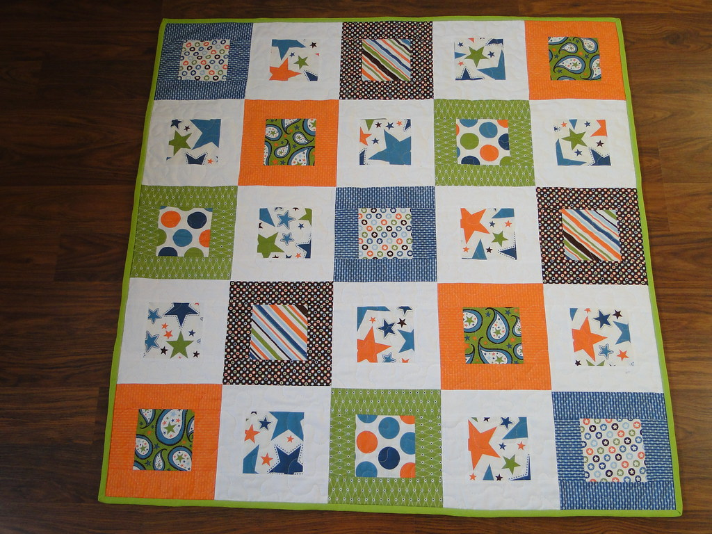 Baby Boy Quilt I Finished This Quilt Today For A Little