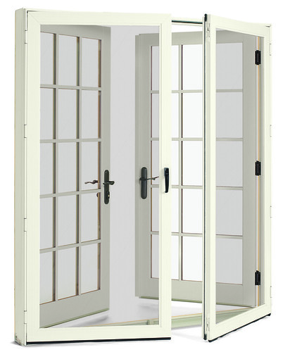 Integrity Wood Ultrex Inswing French Door White Exterior W
