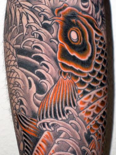 Koi carp sleeve shading and colour 02 04 2010 10 33 35 for Koi carp tattoo colours