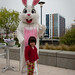 naomi with the easter bunny