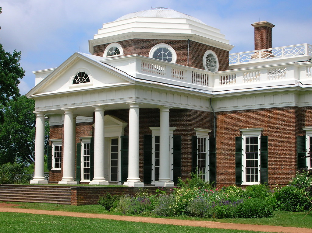 Monticello facade thomas jefferson 39 s house and estate for Thomas jefferson house monticello