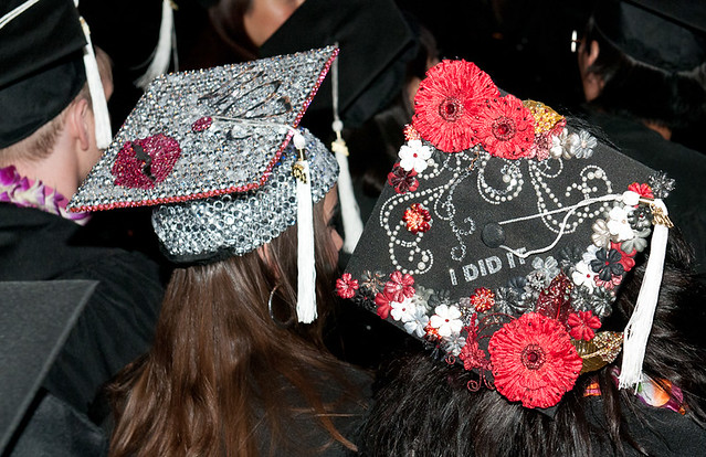 Fidm 2011 Graduation Decorated Mortar Boards Staples C