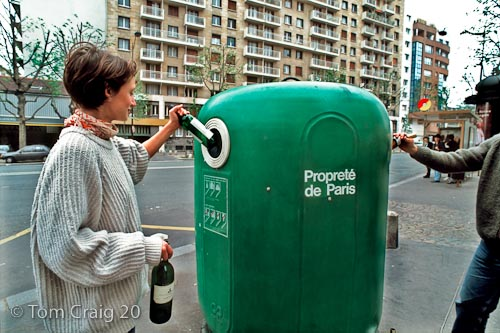 Paris, France, Female Teen Recycling Household Wast, Glass -2879