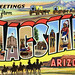 Greetings from Flagstaff, Arizona - Large Letter Postcard