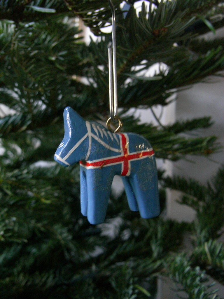christmas decorations iceland horse by catherine dixon