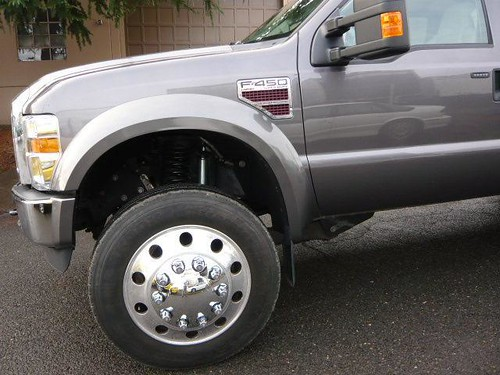 2008 F450 22.5 wheels   Just a crazy setup, I luv these f ...