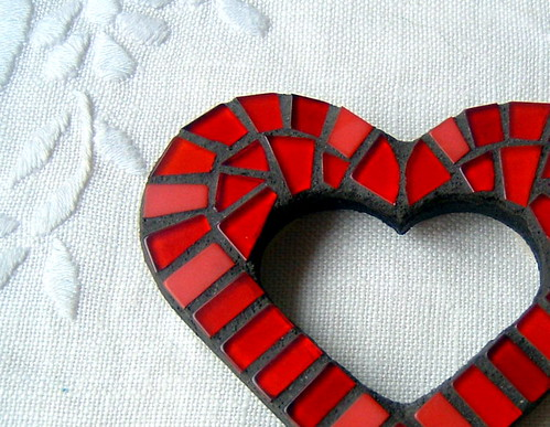 Red Love heart mini wall art | by Sigmosaics / Kerrin