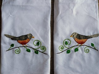 Set of Robin Hand Towels | by sara ~~ thesplitstitch