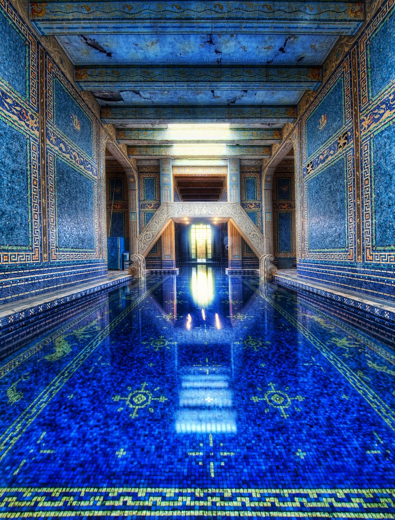 The Azure Blue Indoor Pool At Hearst Castle See You All