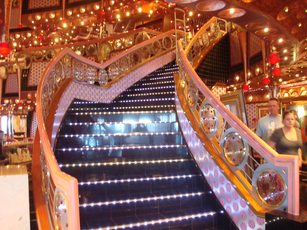 Carnival Splendor Interior Design Atrium Stair Case 2010 1