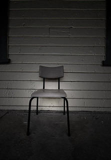 chair in darkness | by de Whalan