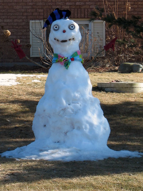 scary snowman northumberland or quinte west road 64 nea flickr