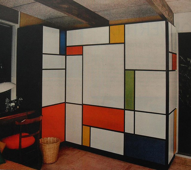 1960s mondrian desk flip down foldout bold solid color vin flickr