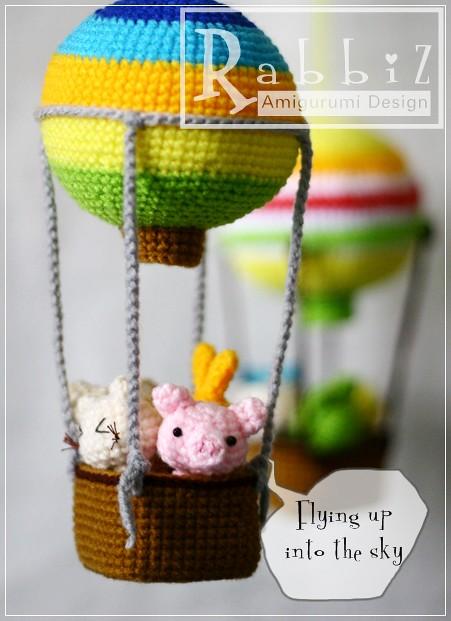 Amigurumi Hot Air Balloon Rabbiz Design Flickr