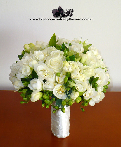 white freesia rose bouquet bridal posy of white freesia bl flickr. Black Bedroom Furniture Sets. Home Design Ideas