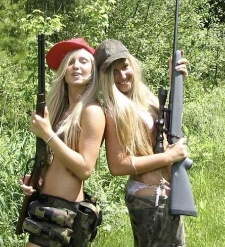 Two Sexy Blonde Girls Holding Guns   These two sexy ...