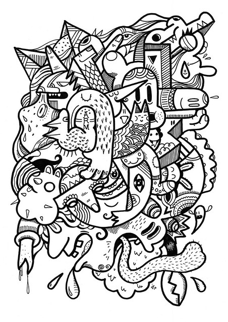 Under the influence | Mindless freestyle posca doodle on ...